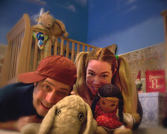 Day 197 Babes In Toyland (ladyhawke365) Tags: baby goofy animals daddy toys book kid stuffed dolls child room mommy pregnant pooh crib decorate gravid 365days 365set