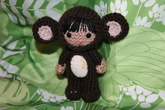 Monkey girl amigurumi doll