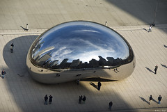 Cloudgate From Above (rjseg1) Tags: park sky sculpture chicago skyline bean millennium cloudgate kapoor anish segal pentaxk10d anawesomeshot