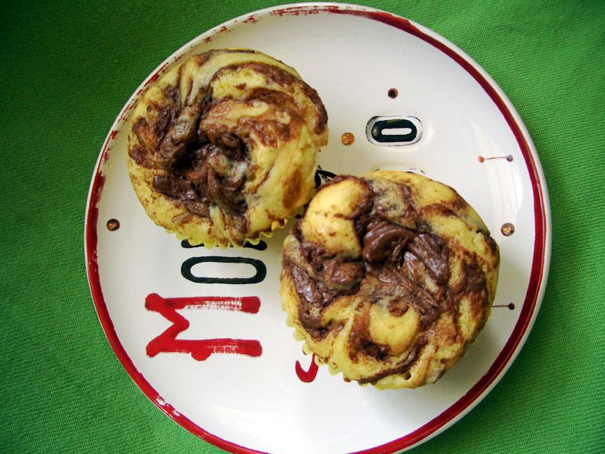 receta polvo hornear royal magdalenas nutella