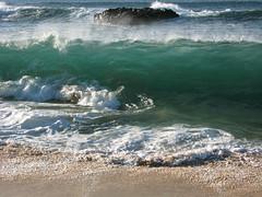 Curling Over (AH in Pgh) Tags: ocean beach hawaii sand oahu turquoise wave pacificocean waimeabay breakingwave seagreen