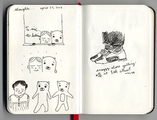 day 22 of 365 Sketch: thoughts and shoes