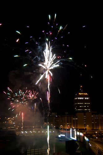 Fireworks at Frontier Field
