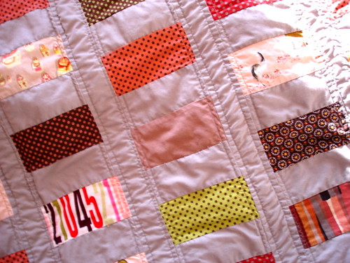 close-up of baby quilt