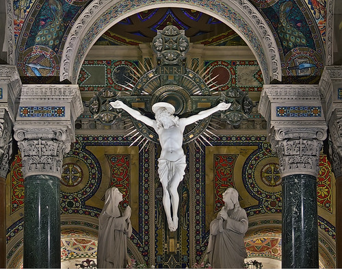 Cathedral Basilica of Saint Louis, in Saint Louis, Missouri, USA - crucifix