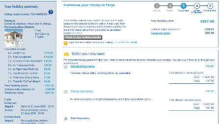 Thomas Cook holiday details