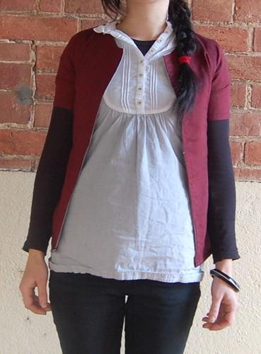 handmade shirt/cardigan