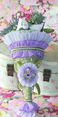 Victorian Tussy Mussy (sage green/purple/lilac/lavender) Tussie Mussie #2