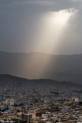 End of the World (kavan.) Tags: lighting city morning light cloud mountain sunshine canon aperture iran iranian sunray kurdistan sanandaj kavan kordestan 400d 70200lf4is