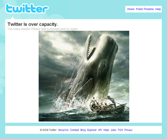 Twitter is Over Capacity II