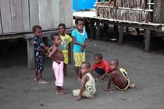 Beneraf village (Mangiwau) Tags: new playing west kids guinea sand village kampung papua kampong nouvelle melayu manusia irja guinee sarmi irian papouasie kribo irianese beneraf