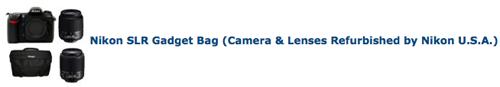 Refurbished Nikon cameras and lenses
