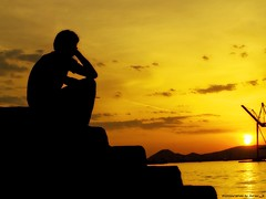dreamer (Jordan_K) Tags: light sunset sea sky colors silhouette port pier artistic dreaming jordan lightning feeling dreamer beautifulpeople piraeus anawesomeshot ysplix goldstaraward
