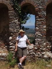 Byzantine ruins and H. (steven_and_haley_bach) Tags: mom h haley byzantine mystras sixthday mistras greecevacation byzantineruins