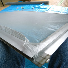 screen window maintenance #9 flattened screen with good tension