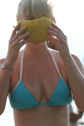 : bluebikini, swimming, macedonia, bikini, lake, girl, beach, sonia, melon, melons, ohrid, lakeohrid, stringbikini