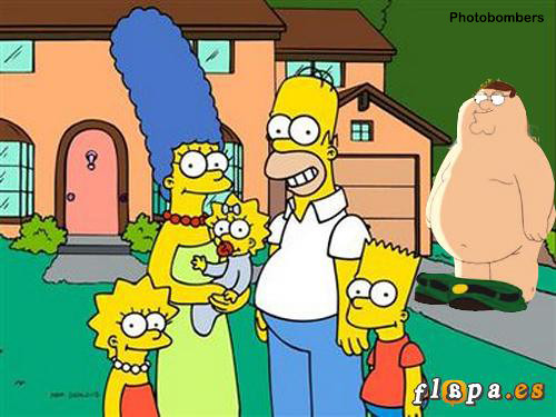 simpsons v family guy photobomb