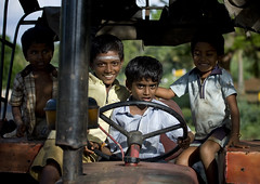 Young Group Of kids Driving A Tractor And Having Fun, Madurai, India (Eric Lafforgue) Tags: india tractor smile wheel kids canon children fun happy countryside kid child indian indie indi enfant indien hind indi tracteur chlidren inde hodu vehicule indland  hindistan indija   volant ndia hindustan  9382  lafforgue   hindia  bhrat  indhiya bhratavarsha bhratadesha bharatadeshamu bhrrowtbaurshow  hndkastan