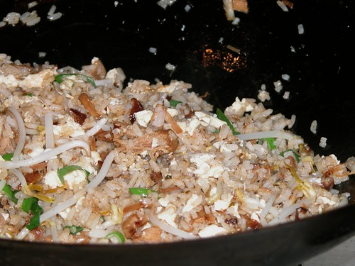 Pulled pork belly fried rice