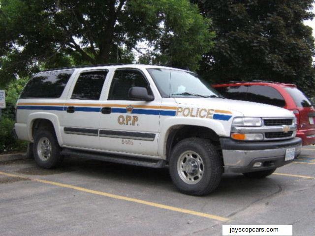 chevrolet suburban police policecar suv lawenforcement opp copcars ontarioprovincialpolice