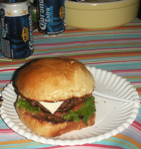 my all-homemade deluxe burger