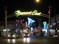 Entering Fremont East District, Las Vegas, Nevada