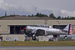 Texan Takeoff (AK_AV8TOR) Tags: alaska canon arctic airshow 70300mm 2008 thunder texan t6 xsi elemendorf