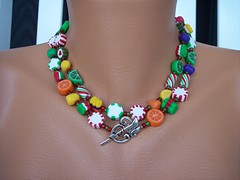 Candy Colored Dreams view 2 (clayangel_sc) Tags: art beauty fashion necklace beads artist handmade originalart ooak polymerclay clay gift canes handcrafted wearableart accessories bracelets earrings acessories brooches necklaces polymer millefiori artjewelry hypoallergenic adornments artisanjewelry canework handmadebeads artbeads handcraftedbeads notpainted polymerclayjewelry polymerclaycanes oneofakindjewelry fauxjewelry southcarolinaartist jewelryartisan boldjewelry clayangel oneofakindpiece clayangelsc nopaintisinvolved athousandflowers finising