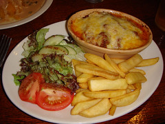 Lasagne at The Cramond Inn, Edinburgh