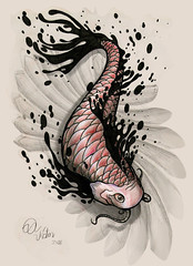 Carpa Tinta (ilustracionamentador) Tags: fish art ink arte capa victor peixe draw desenho tatto carpa tatuagem tubaro victorjam