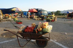 Gjakova - wheelbarrow at evening market (CharlesFred) Tags: europa europe european kosova kosovo balkan eropa avrupa evropa balcani eurooppa gjakova balcanica  southeasteurope  ballkan   balkanhalbinsel    yurub  ballkanik ovejebalkan thisisthebalkans achainofwoodedmountains haemus