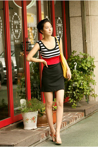 Striped Dress, I Love Oshare