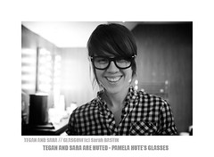 Sara Quin is Huted (sarah bastin / redbookprojekt) Tags: portrait bw glasses sara glasgow abc teganandsara quin wayfarer rayban tegan saraquin pamelahute mrbrun sarahbastin