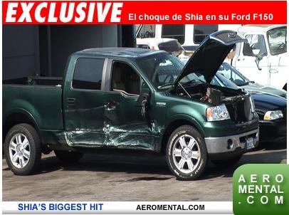 Shia LaBeouf choque de su F150
