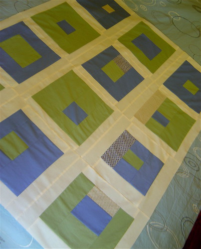 What A Bunch of Squares Baby Quilt Top