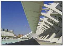 City of the Arts and the Sciences of Valencia, Spain (jmhdezhdez) Tags: city travel bridge copyright espaa abstract building art history tourism water glass valencia architecture river spain opera europe arte edificio hamilton arts engineering ciudad cable f1 ferrari paseo calatrava curve curved alameda alonso modernarchitecture raikkonen masa sciences stay agora santiagocalatrava allrightsreserved vidrio espania ciudaddelasartesylasciencias pritzker curving espanya turia arquitecto hormign ingeniera kovalainen ingeniero trencadis principefelipe renaultf1team abigfave serrera cityoftheartsandsciences ciudaddelasartesylascienciasdevalencia arquitecturacontempornea granpremiof1 httpwwwjmhdezhdezcom contactjmhdezhdezcom josmiguelhernndezhernndez frmula1valencia cityoftheartsandthesciencesofvalence puentedelaserrera wwwjmhdezhdezcom