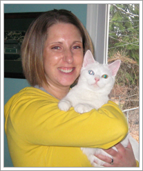 Jill Scapelliti and her cat Rocco by whatsthediffblog, on Flickr