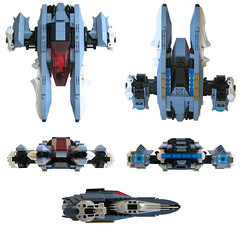 Hyperspace Courier 002 (cjedwards47) Tags: fighter lego space moc