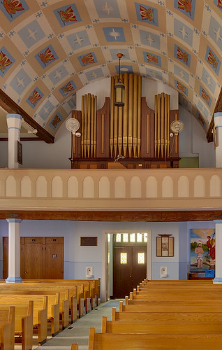 Saint John the Baptist Roman Catholic Church, in Villa Ridge (Gildehaus), Missouri, USA - pipe organ