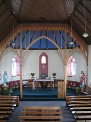 Inside St. Michael's in Eriskay - note the alter made from a boat