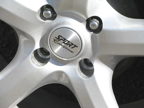 The broken wheel studs
