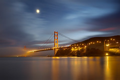 Golden Gate Bridge - Into The Mist (PatrickSmithPhotography) Tags: sanfrancisco california longexposure travel bridge sunset sea wallpaper vacation sky usa seascape fog seascapes marin goldengatebridge goldengate sanfranciscobayarea bayarea marincounty 5d canon5d sanfranciscobay sausalito suspensionbridge 1740l ggb canon1740l californialandscape landscapephotography californiaseascape seascapephotography