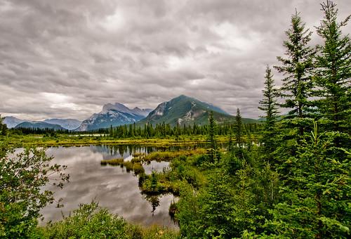 Vermillion Lakes and Mountains