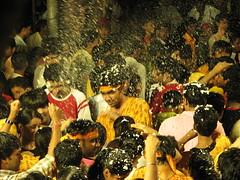 Ganpati Visarjan (Primus D'Mello) Tags: people music india festival canon fun lights is dance god religion ganesh mumbai devotees hindu s3 visarjan primus ganpati lalbaug dmello primusdmello