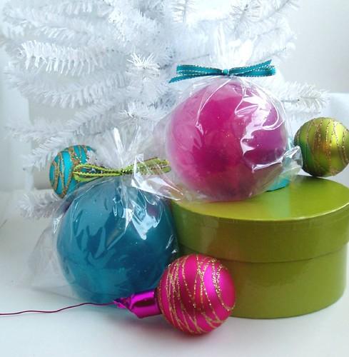 Glittery Glass Ornament Soaps