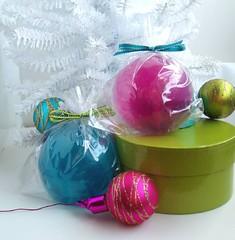 Glittery Glass Ornament Soaps