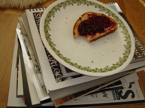 Toast with jam and Cosby Show
