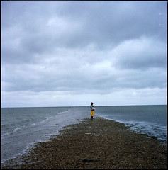 Walk with me to the end of the earth* (CloudJuice) Tags: rollei kodak portra viv whistable meloncholy 400nc