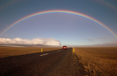 Road to Heaven (timopfahl) Tags: road street island iceland rainbow strasse ring regenbogen ringstrasse