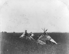 Tents on the prairie, west of the settlement, Red River, MB, 1858 (Muse McCord Museum) Tags: canada tents manitoba prairie mccordmuseum rupertsland musemccord
